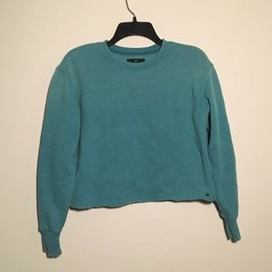 American Eagle Teal Cropped Sweatshirt